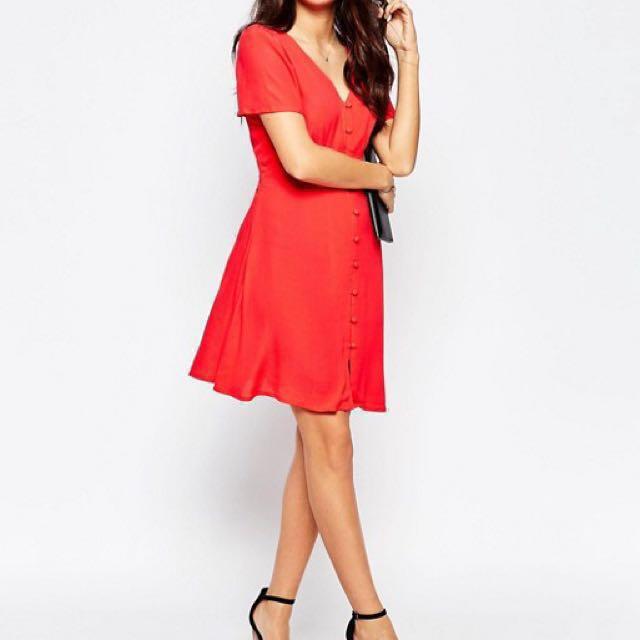 NEW Style London Orange/Red Tea Dress