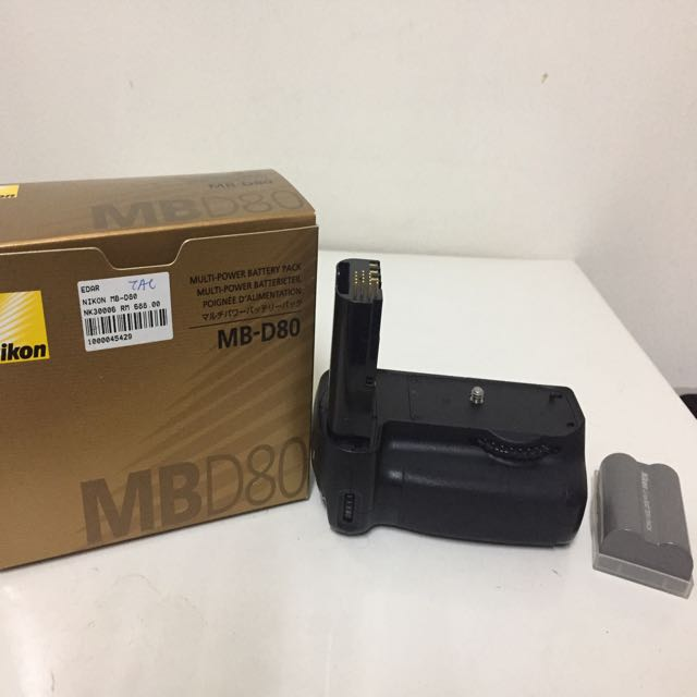 Nikon MB-D80 Battery Grip with Original battery