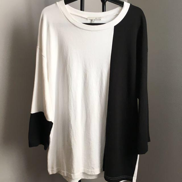 Oak + Fort colourblock oversized sweater