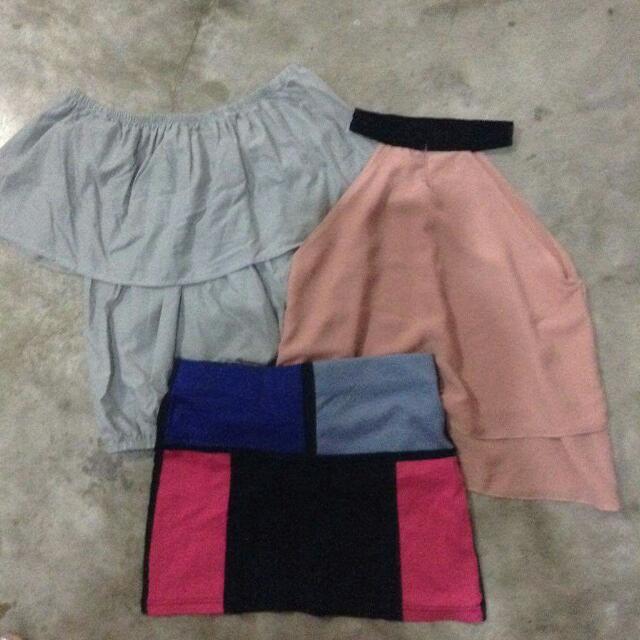 Off Shoulder/skirt/blouse