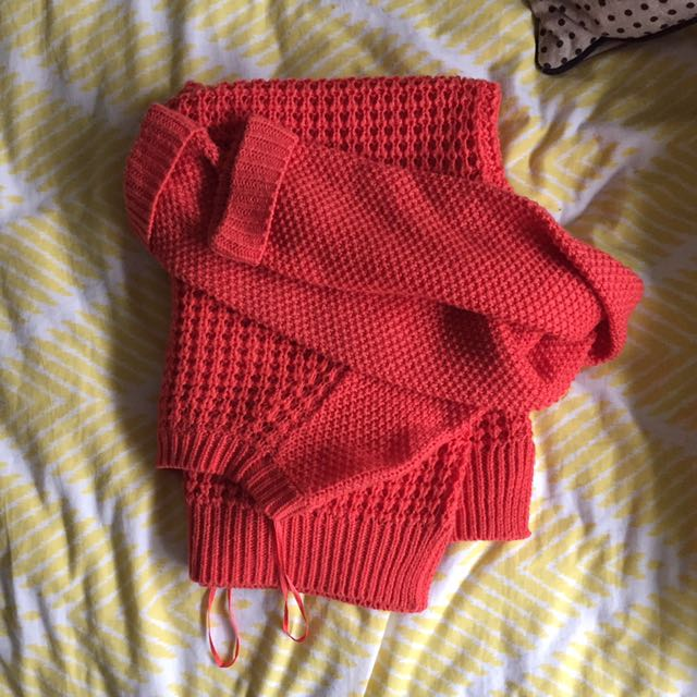 Orange Dotti sweater