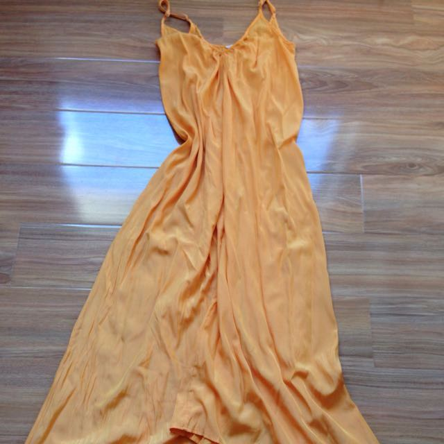 Pink Stitch Orange Resort Maxi Dress Size 6