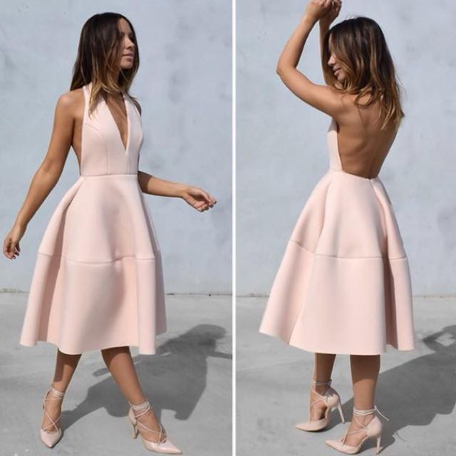 Pink/nude halter dress. Size XS. BNWT