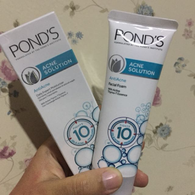 POND'S Acne Solution (Facial Foam and Moisturizer)