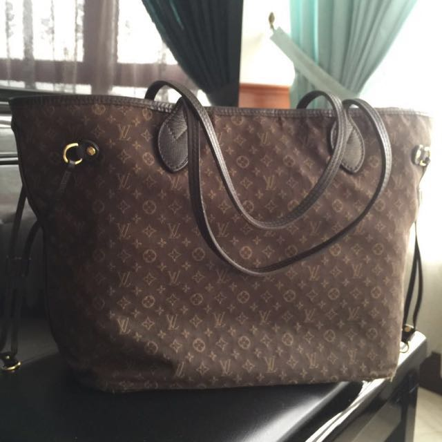 ab6a86c5bf72 Original Louis Vuitton Fusain Monogram Idylle Neverfull MM Bag