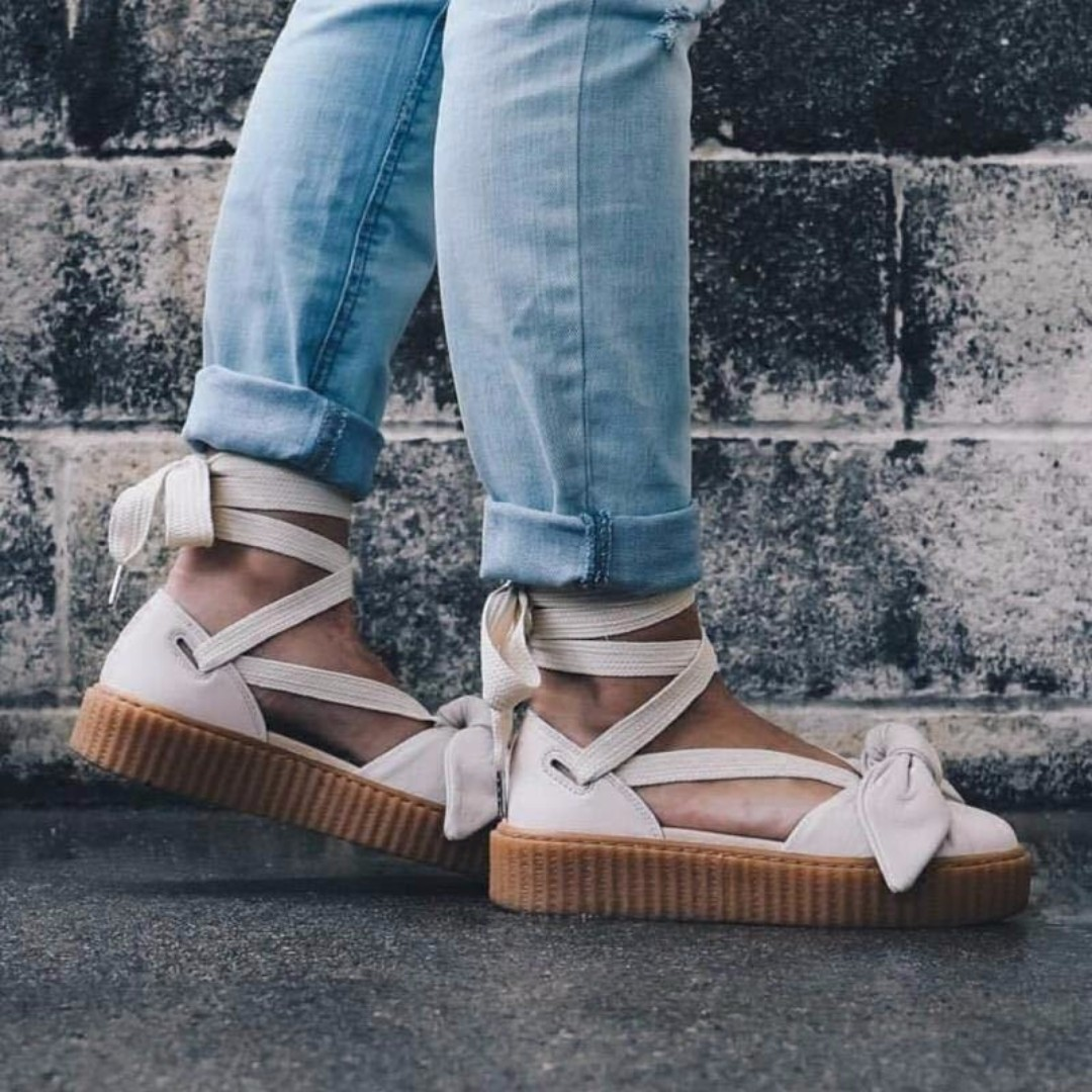 check out 6c54d 53cbf Puma Fenty x Rihanna Bow Creeper Sandals 'Pink Tint/Oatmeal ...
