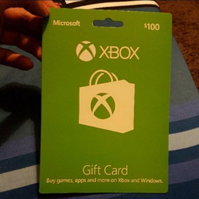 S$100 Xbox gift card