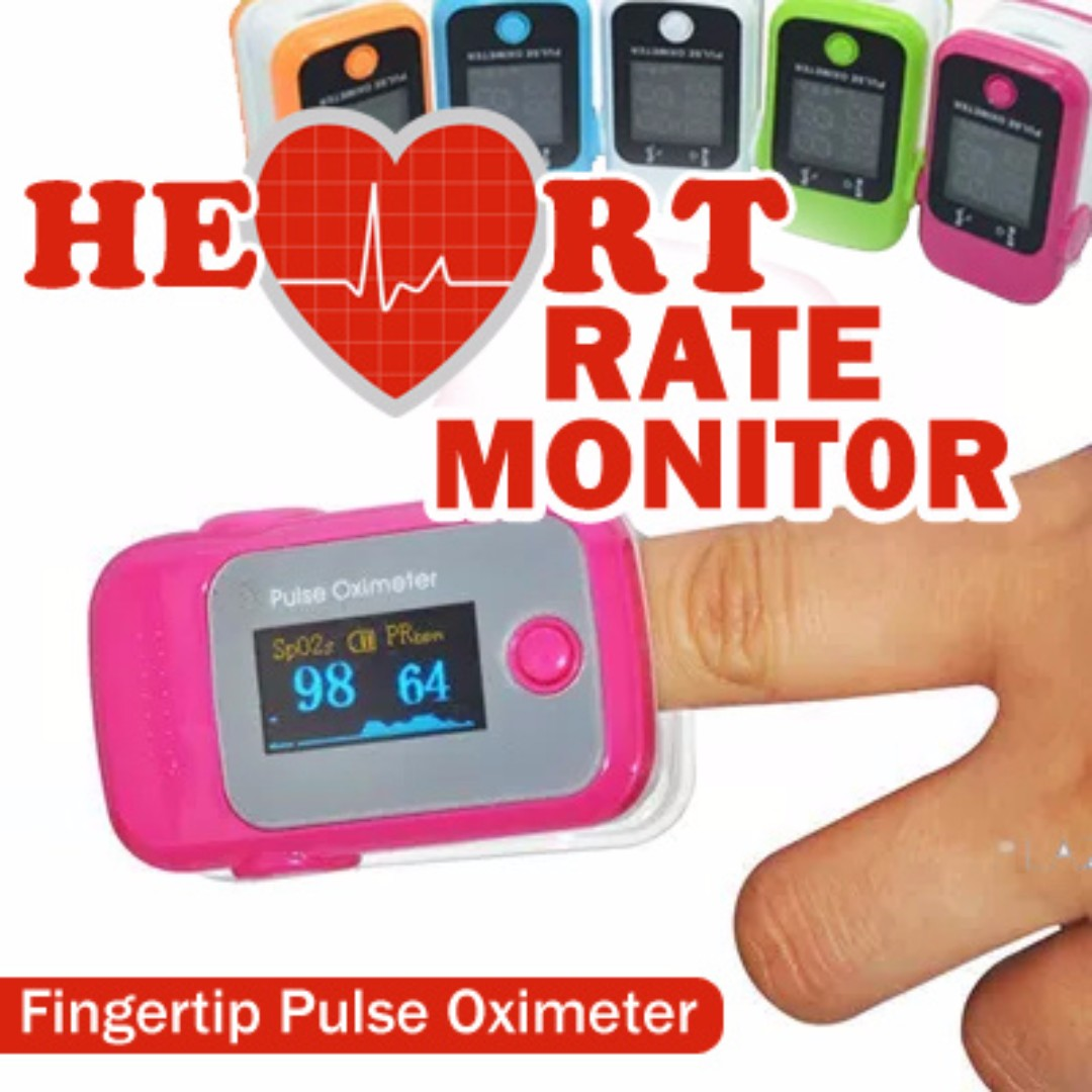 Fingertip Pulse Oximeter Heart Rate Monitor Blood Oxygen Health Care OLED  Display Accurate Easy to Use 1 Button Operation-Excellent Quality-Best Gift