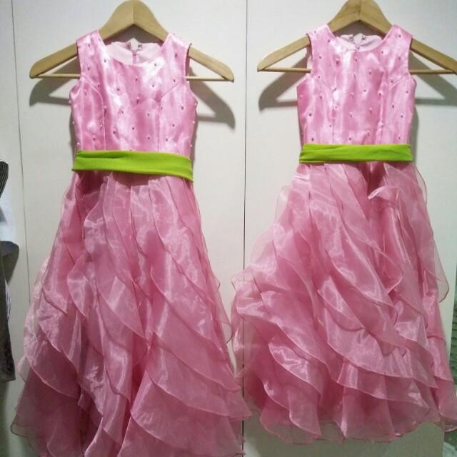 Set of 2 Flower Girl Dresses in Pink