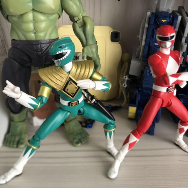 SH Figuarts Power Rangers: Green Ranger & Red Ranger