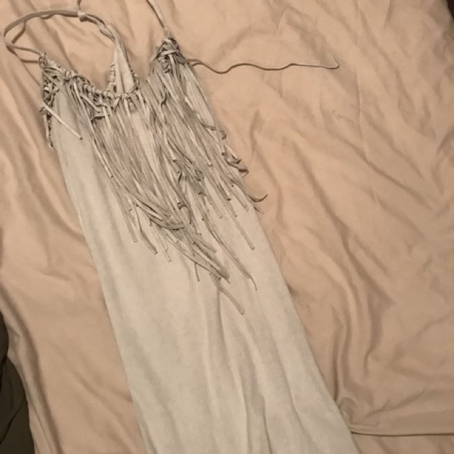 Size small suede Zara tassels dress.