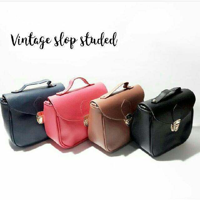 Sling Bag,Tas Wanita Vintage Studed