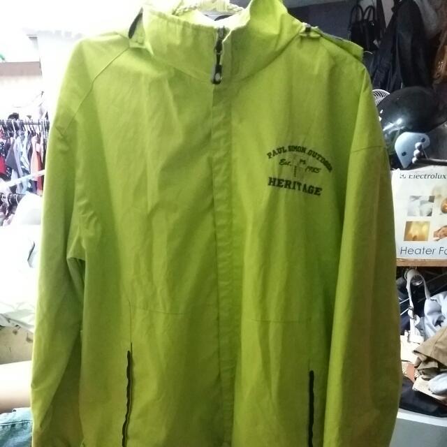 Sports螢光綠防風外套