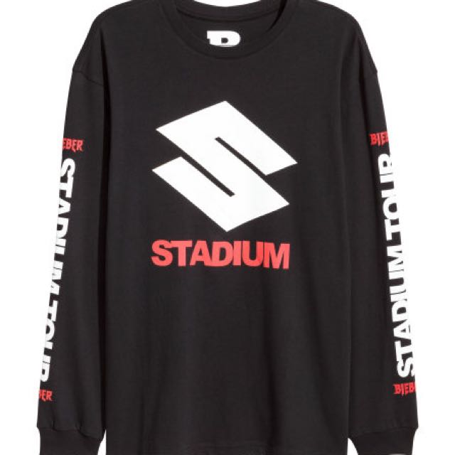STADIUM x H&M LONG SLEEVE ORIGINAL MERCH USA JUSTIN BIEBER PO ONLY