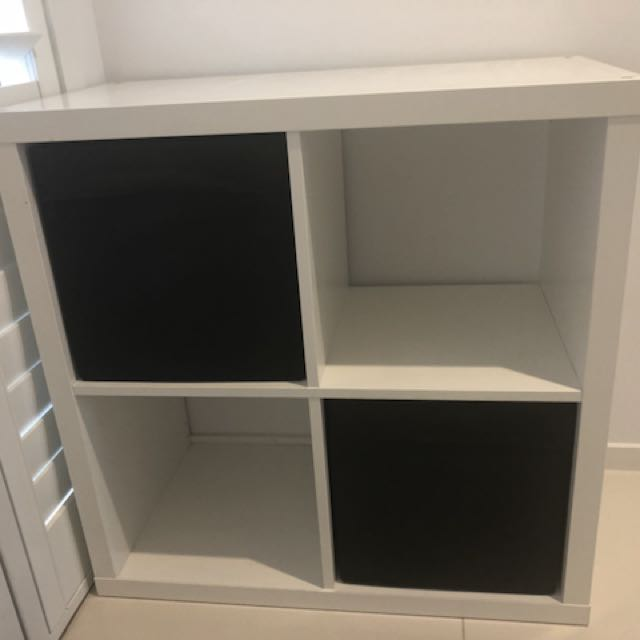 Storage Cube with Fabric Draw Inserts / Boxes