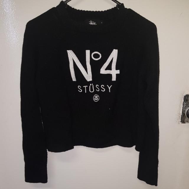 Stussy Black Knit Sweater Size 10