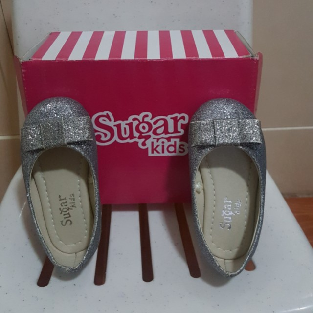 Bnew Sugar kids silver doll shoes