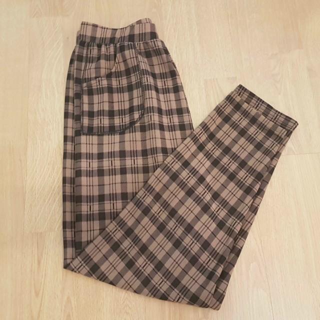 Tartan Patterned Pants