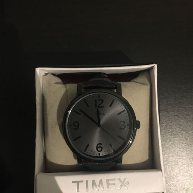 Timex Leather Band Watch