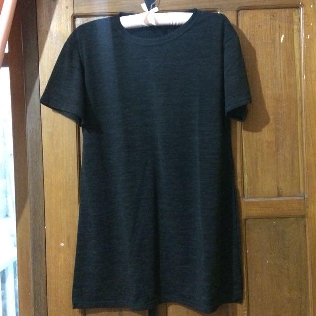 Top/ mini slit dress