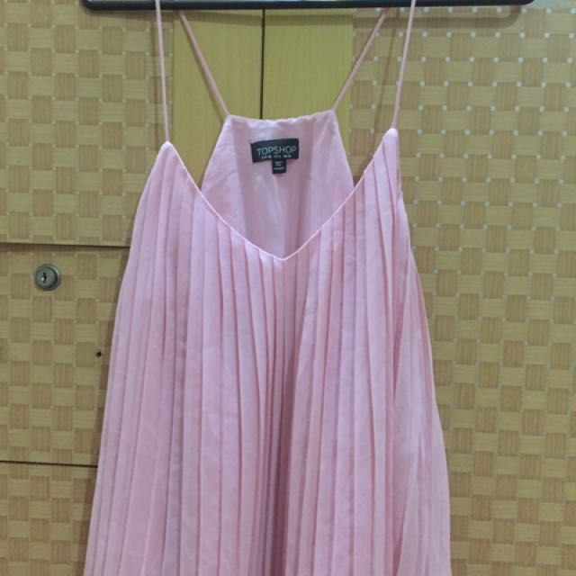 Topshop pleated pink