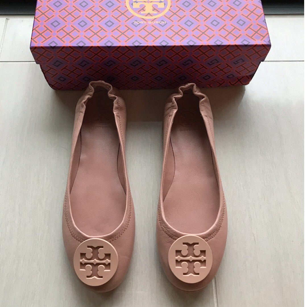 Tory Burch Minnie Travel Flats (Pink)