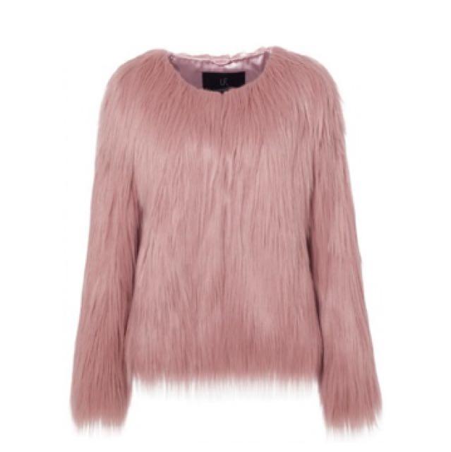 Unreal fur jacket blush RRP $309
