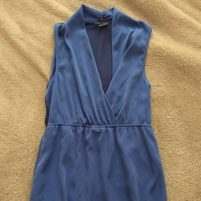 Urban Outfitters Royal Blue Drape Dress
