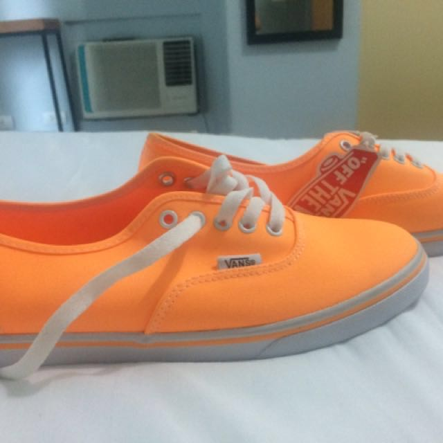 Vans neon orange sneakers for sale (authentic brandnew)