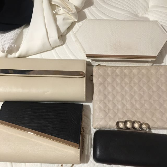 VARIOUS CLUTCH PURSE EACH $5