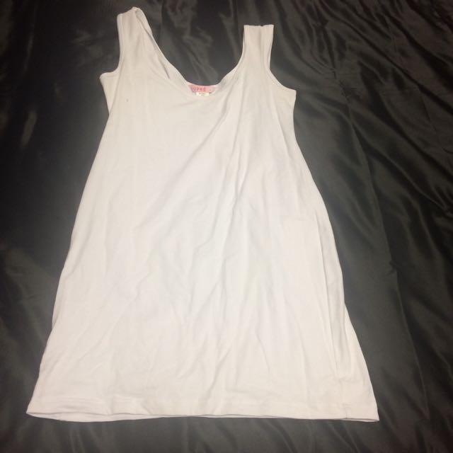 White long tank top