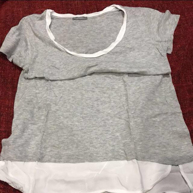 Zara gray shirt