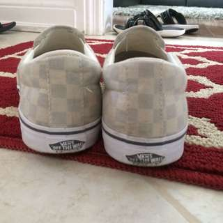 Vans Checkerboard Slip On Shoes