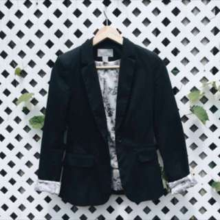 Black Blazer with floral lining
