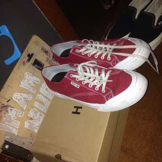 Huf classic lo ess tx red canvas