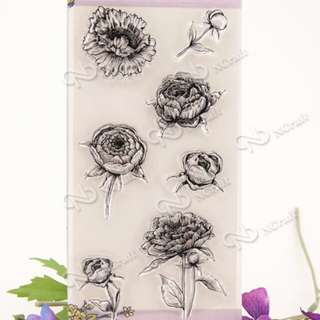 Beautiful Flowers Clear Stamp Set