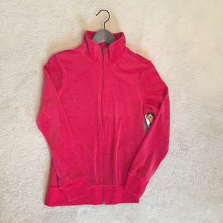 Small Hanes Red Velour Sweater