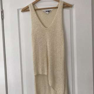 Helmut Lang cream knit top
