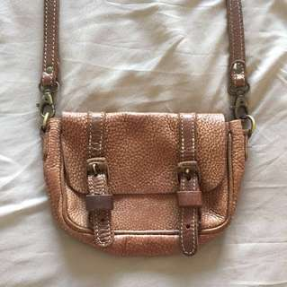 SALE! Roots genuine leather satchel