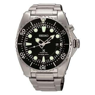 精工 SEIKO PROSPEX KINETIC DIVER'S 潛水 SKA371P1 200M 防水 SKA371-P1