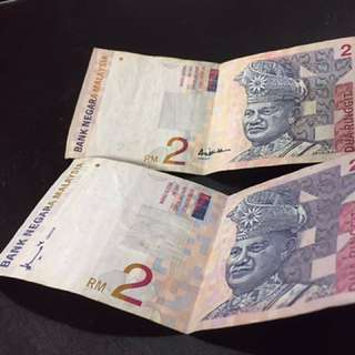 Notes RM2 Malaysia