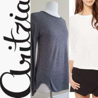 ARITZIA: WILFRED La Rivière Gray Long Sleeve Shirt, EUC, US XS, Sold Out