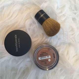 New Medium Deep Bare Minerals Foundation Powder and Brush