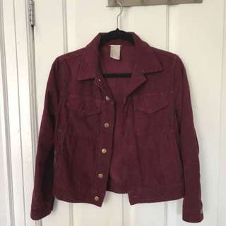 American apparel burgundy corduroy jacket