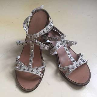 Urban Soul heeled sandal leather