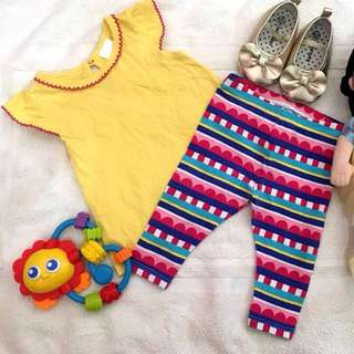 REPRICED: Top and Leggings Terno for Baby Girls, 3mos