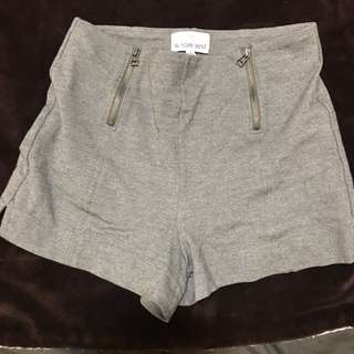 Gray aritzia talula high waist shorts