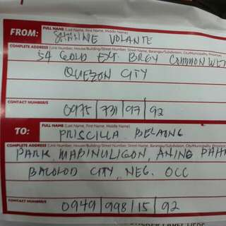lbc proof of shipping