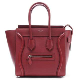 CELINE Red Micro Luggage