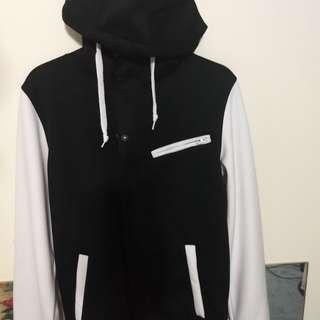 Empyre Offence Varsity Tech Fleece Jacket (Black, Small)